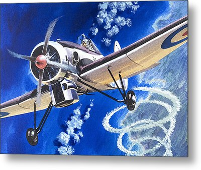 The Bristol 138a Attempts An Altitude Record Metal Print by Wilf Hardy