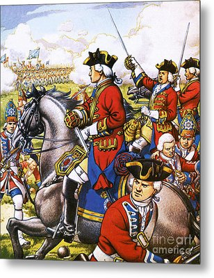 The British Life Guards Clash With The French At Fontenoy In 1745 Metal Print