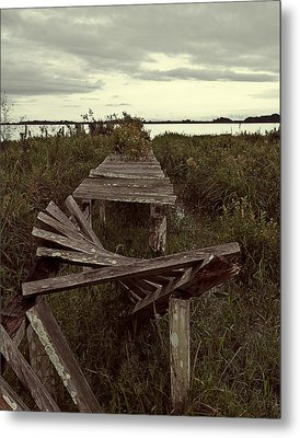 Metal Print featuring the photograph The Broken Dock by Ron Dubin