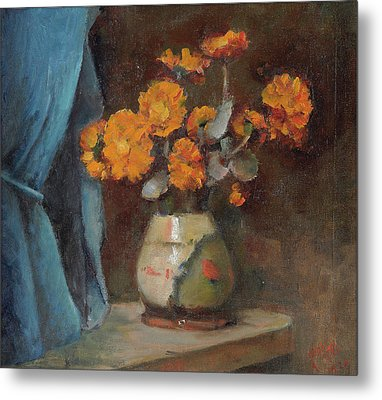 The Broken Vase Metal Print by Alfred O'Keeffe