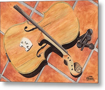 The Broken Violin Metal Print by Ken Powers