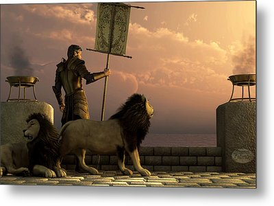 The Bronze Knight Of The Isle Of Lions Metal Print by Daniel Eskridge