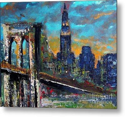 The Brooklyn Bridge Metal Print by Frances Marino