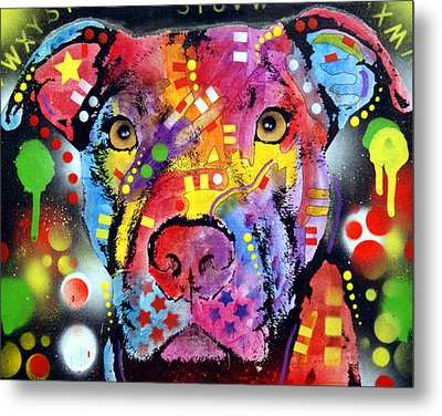 The Brooklyn Pitbull 1 Metal Print by Dean Russo