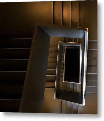 The Brown Sugar Staircase Metal Print by Gerard Jonkman