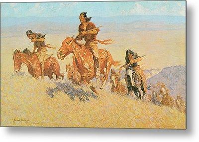 The Buffalo Runners Big Horn Basin Metal Print by Frederic Remington