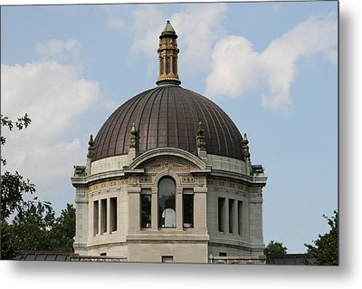Metal Print featuring the photograph The Building  by Paul SEQUENCE Ferguson             sequence dot net