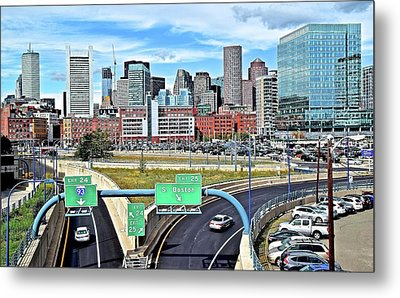 The Buildings Of Boston Metal Print by Frozen in Time Fine Art Photography
