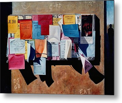 The Bulletin Board Metal Print by Doug Strickland