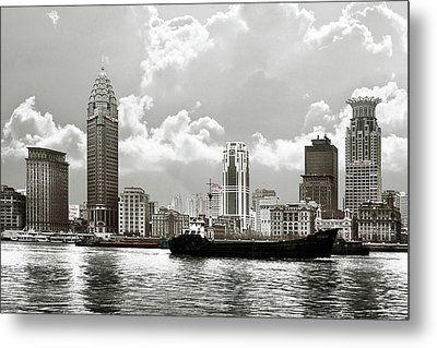 The Bund - Old Shanghai China - A Museum Of International Architecture Metal Print by Christine Till