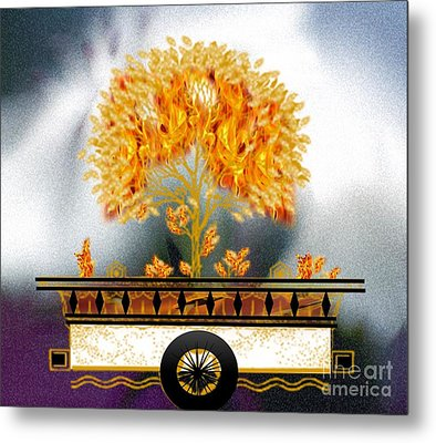 The Burning Bush Metal Print by Belinda Threeths