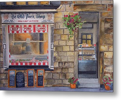 The Butcher Shop Metal Print by Victoria Heryet