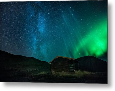 The Cabin Metal Print by Tor-Ivar Naess