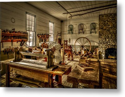 Metal Print featuring the photograph The Cabinetmaker by David Morefield