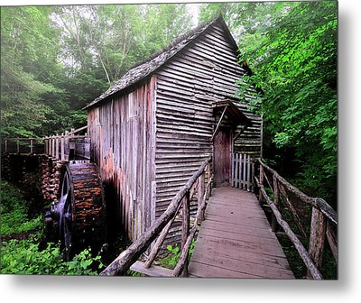 The Cable Grist Mill Metal Print by Thomas Schoeller