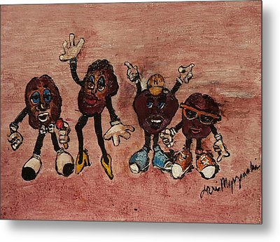 The California Raisins Metal Print by Geraldine Myszenski