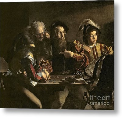 The Calling Of St. Matthew Metal Print by Michelangelo Merisi da Caravaggio