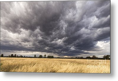 The Calm Before The Storm Metal Print by Linda Lees