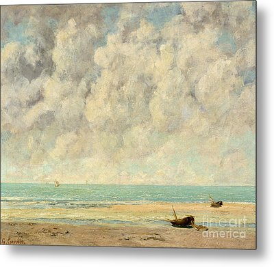 The Calm Sea, 1869  Metal Print by Gustave Courbet