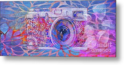 Metal Print featuring the digital art The Camera - 02c3t by Variance Collections