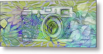 Metal Print featuring the digital art The Camera - 02c5b by Variance Collections