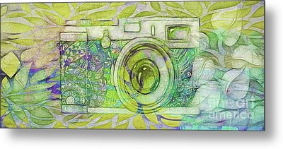 Metal Print featuring the digital art The Camera - 02c5bt by Variance Collections