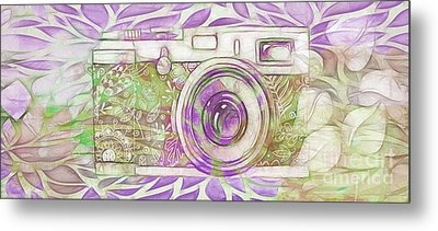 Metal Print featuring the digital art The Camera - 02c6 by Variance Collections