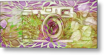 Metal Print featuring the digital art The Camera - 02c6t by Variance Collections