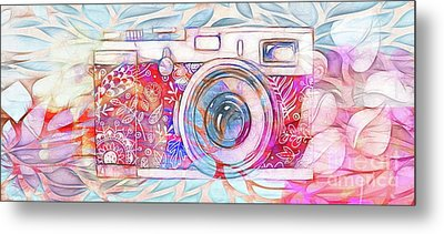 Metal Print featuring the digital art The Camera - 02c8v2 by Variance Collections
