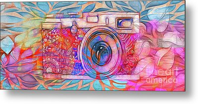 Metal Print featuring the digital art The Camera - 02v2 by Variance Collections