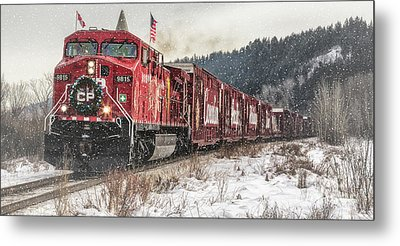 The Canadian Pacific Holiday Train Metal Print