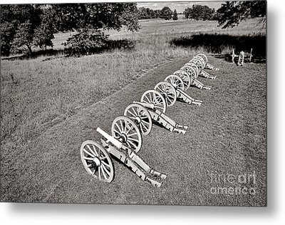 The Cannons Of Valley Forge Metal Print by Olivier Le Queinec