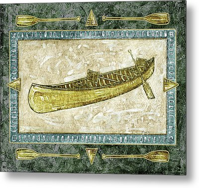 The Canoe Metal Print by JQ Licensing
