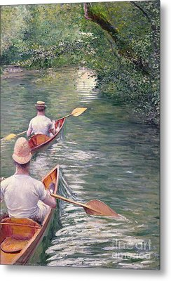 The Canoes Metal Print by Gustave Caillebotte