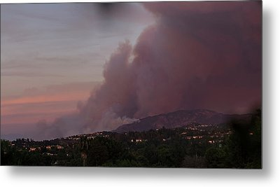 The Canyon Fire Metal Print by Angela A Stanton