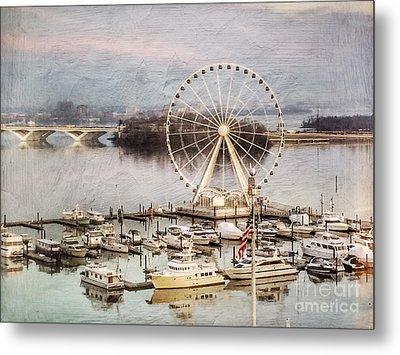 The Capital Wheel At National Harbor Metal Print