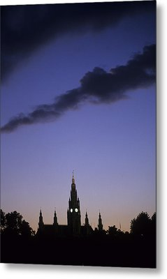 The Capitol Buildings Silhouetted Metal Print by Taylor S. Kennedy