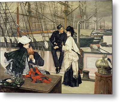 The Captain And The Mate Metal Print by Tissot