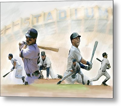 The Captains II Don Mattingly And Derek Jeter Metal Print