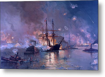 The Capture Of New Orleans During The Civil War Metal Print by American School