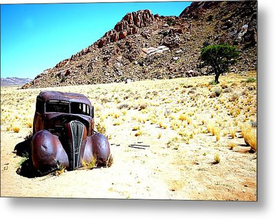 Metal Print featuring the photograph The Car by Riana Van Staden