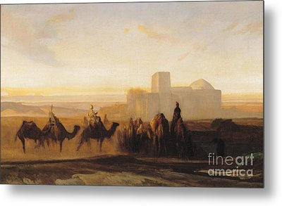 The Caravan Metal Print by Alexandre Gabriel Decamps