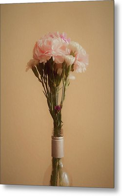 Metal Print featuring the digital art The Carnations by Ernie Echols