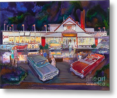 The Carnival Portland Oregon Metal Print by Mike Hill