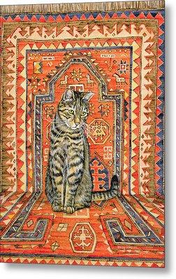 The Carpet Cat Metal Print