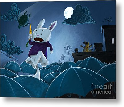 The Carrot Thief Metal Print by Michael Ciccotello