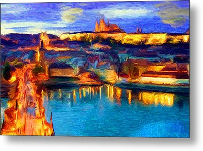 The Castle And The River Metal Print by Caito Junqueira