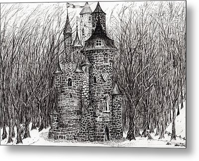 The Castle In The Forest Of Findhorn Metal Print by Vincent Alexander Booth