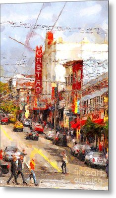 The Castro In San Francisco . 7d7572 Metal Print by Wingsdomain Art and Photography