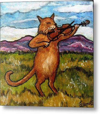 The Cat And The Fiddle Metal Print by Frances Gillotti